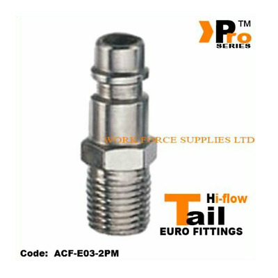 1/4''Euro Tail ( Hi Flow ) Male - Quick Release - Air Line Fittings