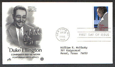 Us Fdc 1986 Duke Ellington 22C Artcraft First Day Of Issue Cover New York