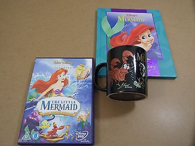 Disney Little mermaid Dvd, Book & Mug set