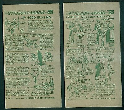 1950 & 1952 National Biscuit Company(NABISCO) Straight Arrow Premium Cards