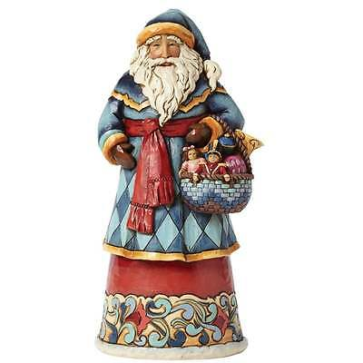 Jim Shore Heartwood Creek Gifts From The Heart - Santa With Basket BNIB 4041065