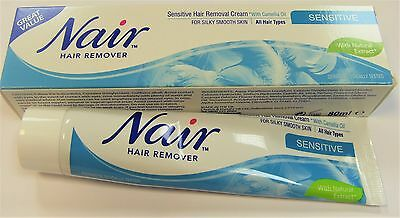 Nair Sensitive Hair Removal Cream With Camellia Oil For All Hair Types 80ml