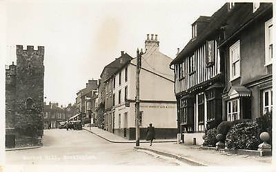 "OLD REAL PHOTO POSTCARD ""MARKET HILL, BUCKINGHAM"" c1948"
