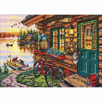 Counted Cross Stitch Kit CABIN VIEW Dimensions Gold Collection NEW Release!