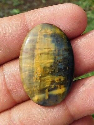 36.6 Cts A++ Stunning Yellow Tiger Eye High Grade 36X24X5 Mm Cabochon Gemstone