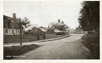 "Old Real Photo Postcard ""park Road, Wing"" Buckinghamshire"