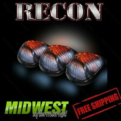 Recon Clear Cab Roof Lights with Strobe & Amber LED's 99-12 Ford F250 F350