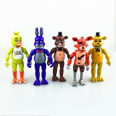 """2016 5PCS A Set  Fnaf Five Nights at Freddy's 6"""" Action Figures With Light Toys"""