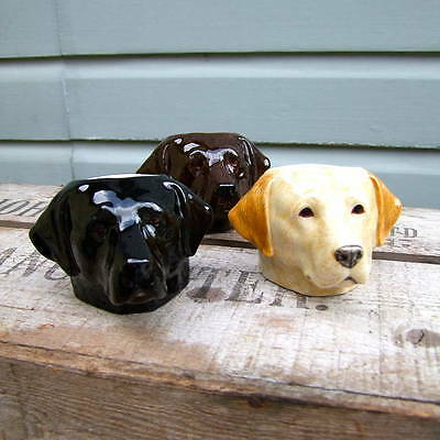 QUAIL Labrador dog egg cup in chocolate [BRAND NEW]