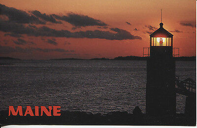 Post Card Of A Light House In Maine Marshall Point Light Built 1832
