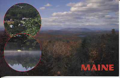 Post Card View Of Western Maine Countryside From A High Mountain