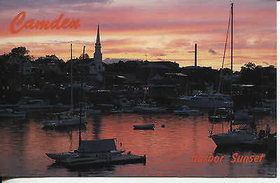 """Post Card Another View Of Camden Maine """"where The Mountains Meet The Sea"""""""