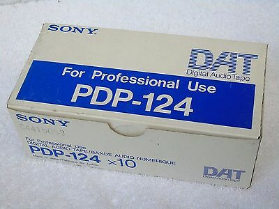 10 Brand New Sony PDP-124 Professional 124min DAT Digital Audio Cassette Tapes