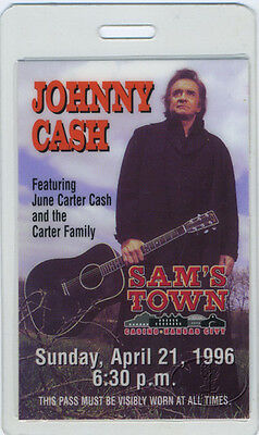 Johnny Cash 1996 Laminated Backstage Pass
