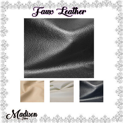 Deluxe Faux Leather Fabric with Soft Lining by Yard