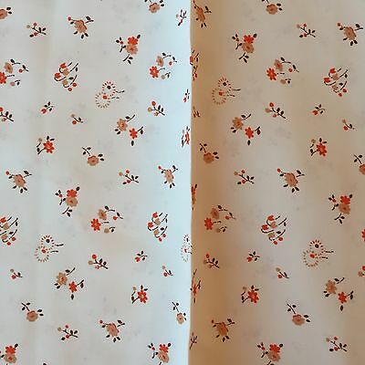 """Vintage 1930's French Fabric.Old Stock. 1 Y 6"""" X 30"""". Floral Excellent Condition"""