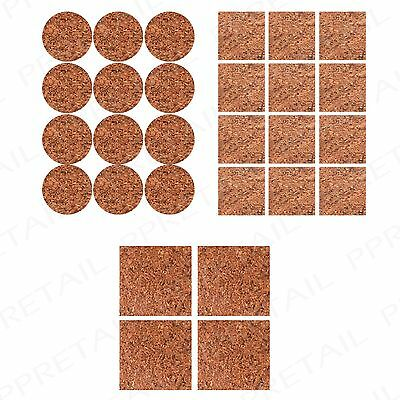 56Pc Round & Square Self Adhesive Skid Protectors +CORK+ Glass/Metal/Wood/Tile