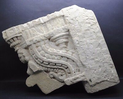 Impressive Pre Columbian Stone Carved Temple Relief