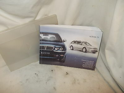 Rover 75 Owners Handbook Pack 2003 Year Car