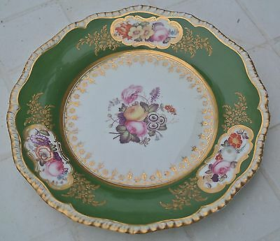 Rare A  Marked Davenport Porcelain Painted Flowers Plate.