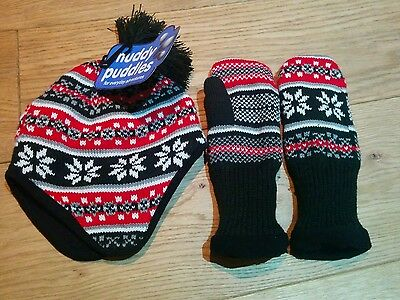 Muddy Puddles boys hat and gloves 7/10 years BNWT