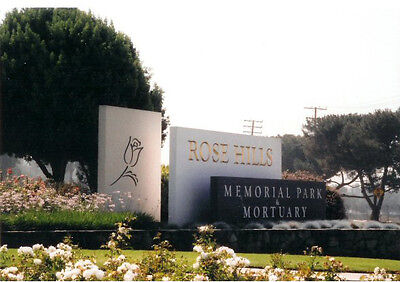 Rose Hills Cemetery Plot, Mountain View Lawn, Whitter, CA