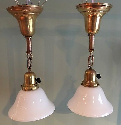 "16"" Vintage Antique Pendant Lights Rosie Brass Wired Great Look!!!"
