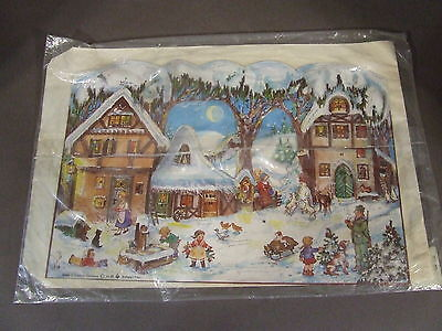 Vintage Advent Calendar Card With Envelope West Germany Stuttgart-Rohr