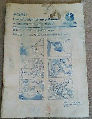 Ford New Holland 40 Series Tractor Owners Maintenance Manual