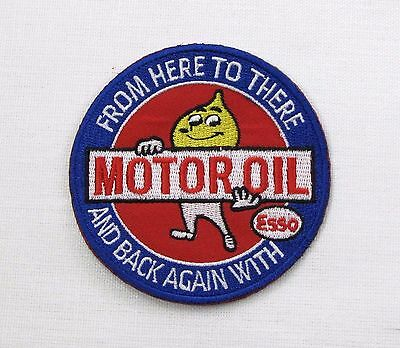 Esso extra Motor Oil Iron or sew on embroidered patch retro camper from To There