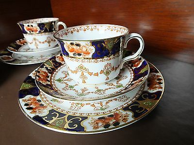 Two Royal Stafford Cup, Saucer & Plate Trio's, Pattern 2843.