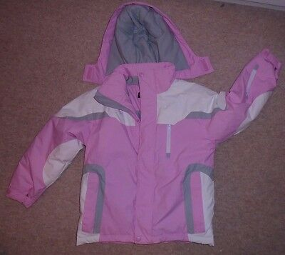 AGE 7 / 8 GIRLS PINK SKIING WINTER JACKET - VGC by Ski Hit The Slopes
