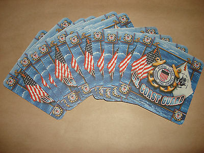 10 NEW 2-Side US COAST GUARD Drink Coasters   Great Gift