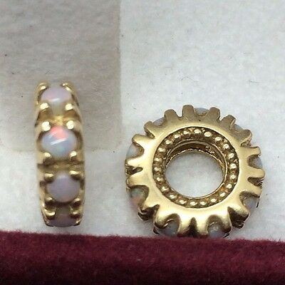 14k Yellow Gold and Opal Stackable Charm (we have 2)
