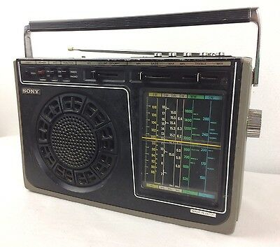 Vintage Sony ICF-8900L Portable 6 Band World Receiver FM/SW/MW/LW Very RARE