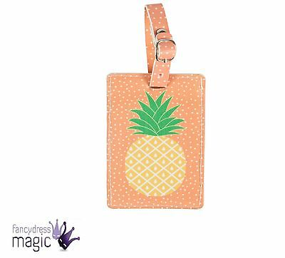 Pineapple Tropical Fruit Summer Luggage Suitcase Tag Label Travel Holiday Gift