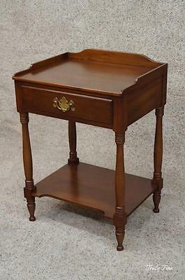 by Henkel Harris Dovetailed Nightstand Side End Lamp Table Solid Cherry