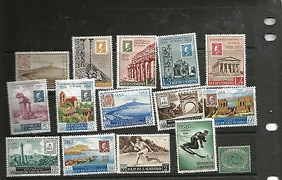 Republic de San Marino selection of stamps on stockcard mint and mounted mint