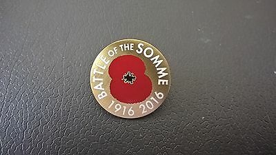 "1"" 1916-2016 Battle Of The Somme (100 Years)  Enamel Pin Badge To Remember."