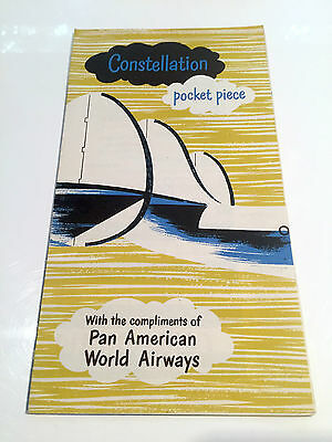 Pan Am Constellation Pocket Piece Brochure With Seat Maps Paa