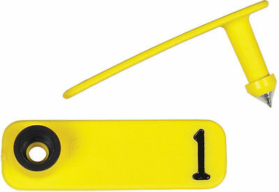 Y-Tex Sheep Ear Tags - Numbered SheepStar ID Tags Yellow 1 - 25*