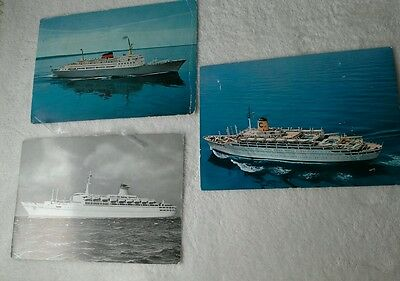 Cruise ships collection of postcards