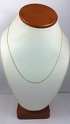 """Beautiful 14K Karat (585 Stamp) Solid Yellow Gold Link Chain / Necklace 18"""" Inch"""