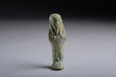 Ancient Egyptian Late Period Blue Faience Shabti - 664 BC