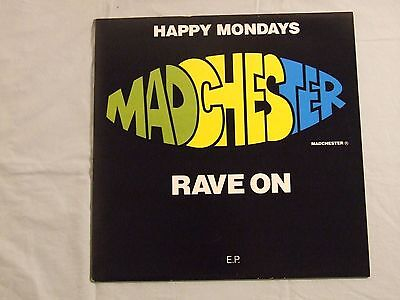 """Happy Mondays– Madchester Rave On(Fac 242) 1st Edition Embossed Cover 12"""" vinyl"""