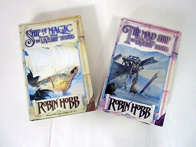 Robin Hobb FIRST EDITION Books 1 & 2 of The Liveship Traders Trilogy Hardback