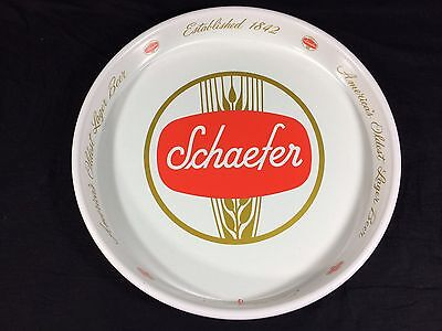 "Schaefer Beer Tray Vintage 13"" Bar Man Cave New York Clean Nice!!"