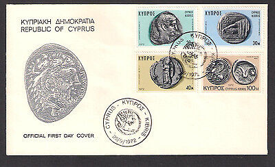 1972 Ancient Coins Of Cyprus Silver Stater Marion Paphos Idalion Official Fdc