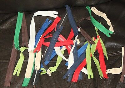 Lot of various zippers