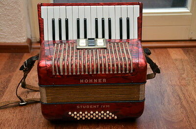 Hohner Student IV M IVM 32 Bass 2-chörig Akkordeo vintage accordion accordeone